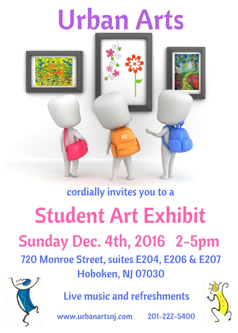 Student Art Exhibit Sunday, Dec. 4th, 2016 2-5pm