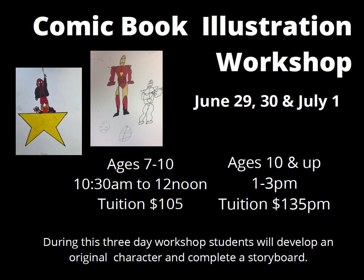 Comic Book Illustration workshop - June 29, 30 & July 1